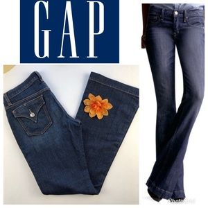 Gap Long and Lean Jeans Size 4 Blue